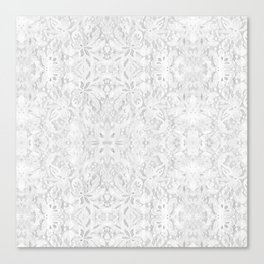 White Lace Canvas Print
