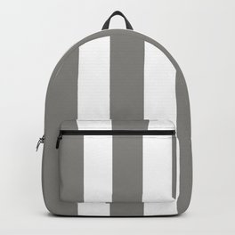 Titanium grey - solid color - white vertical lines pattern Backpack