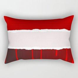 Torn Blood Background Rectangular Pillow