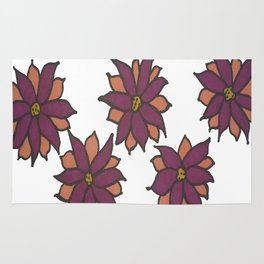 Holiday Two-Toned Flowers Rug