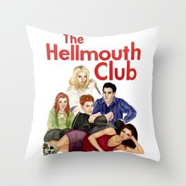 The Hellmouth Club Throw Pillow
