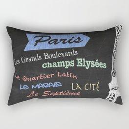 Paris Tourism Poster Rectangular Pillow