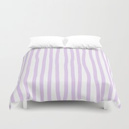 Lavender Stripes Duvet Cover