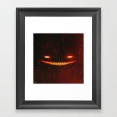 Smile (Red) Framed Art Print