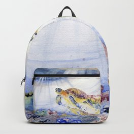 Going Up Sea Turtle Backpack