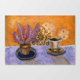 Tea in the solarium Canvas Print