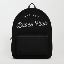 BAD ASS BABES CLUB B&W Backpack
