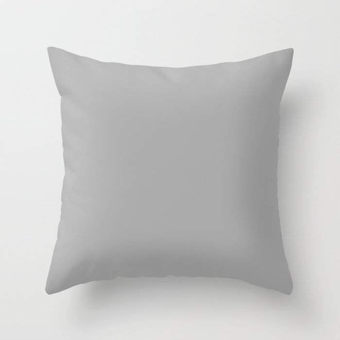 Dark Medium Gray - solid color Throw Pillow