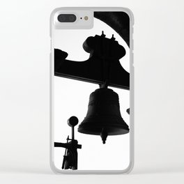 Church bell silhouette Clear iPhone Case