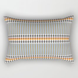 Geometric Stripes Seamless Vector Pattern Art Deco Rectangular Pillow