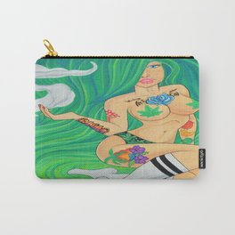 Green Goddess, Smoking Lady Series Carry-All Pouch