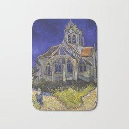 The Church at Auvers by Vincent van Gogh Bath Mat