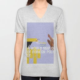 A World Map of Foreign Policy (book jacket cover) Unisex V-Neck