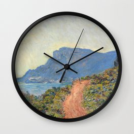 Claude Monet La Corniche near Monaco 1884 Wall Clock