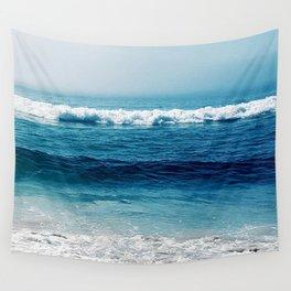 aqua foamy sea Wall Tapestry