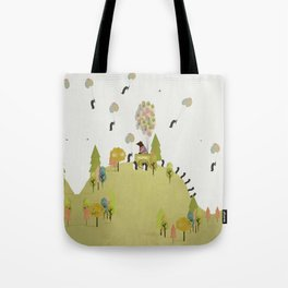 oh my how penguins fly Tote Bag