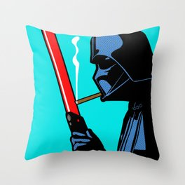 Vader Chillin Throw Pillow