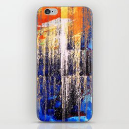 Golden Dawn, Abstract Landscape Art iPhone Skin