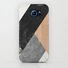 Marble and Wood Abstract Galaxy S8 Slim Case