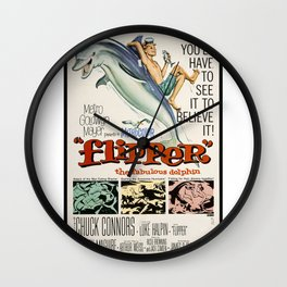 Vintage Classic Movie Posters, Flipper Wall Clock
