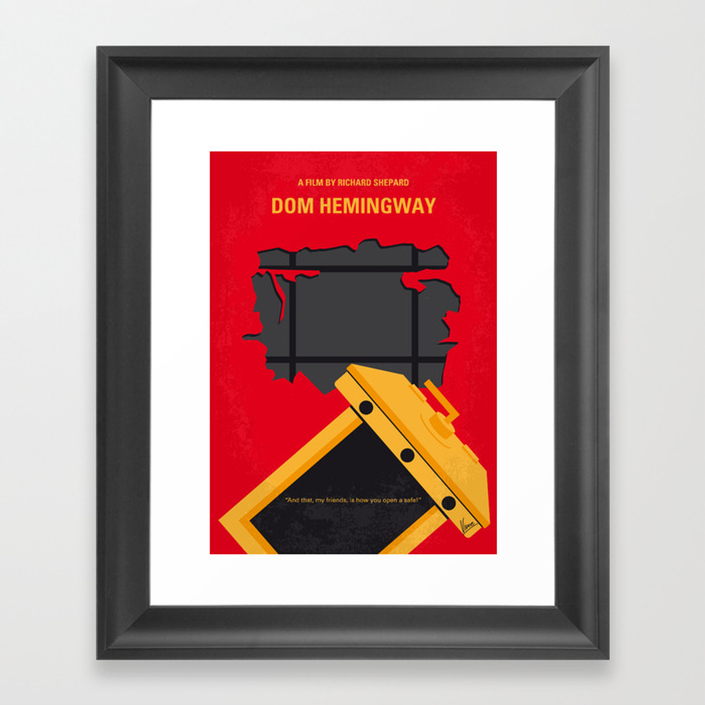 No917 My Dom Hemingway Minimal Movie Poster Framed Art Print by Chungkong FRM8830731