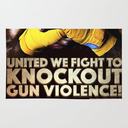 United We Fight to Knockout Gun Violence Rug
