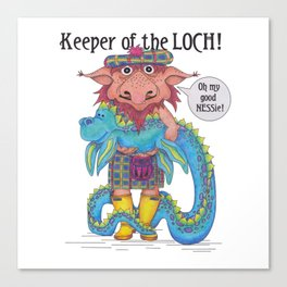 Keeper of the LOCH! Canvas Print