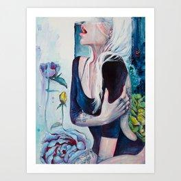 In Her Garden Art Print
