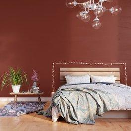 Burnt Umber - solid color Wallpaper