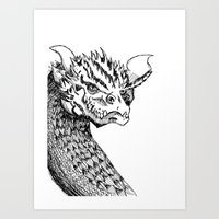 smaug Art Prints featuring Smaug by LegendOfZeldy