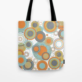 Retro Mid Century Modern Circles Geometric Bubbles Pattern Tote Bag