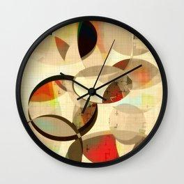 Mod art, circle art, Mid Century Modern Wall Clock