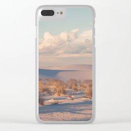 Desert Sunset Clear iPhone Case