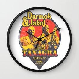 Live at Tanagra - Sunset Wall Clock