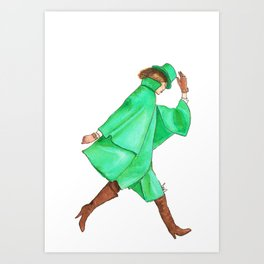 Emerald City Fashion. Art Print