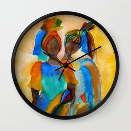 African costumes Wall Clock
