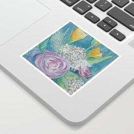 Cottage Rose Bouquet Sticker