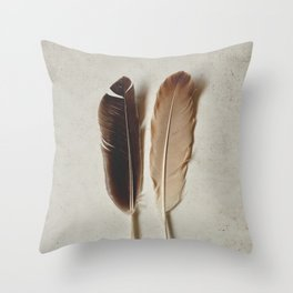 Feathered Pair Throw Pillow