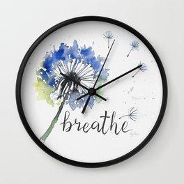 Breathe! Dandelion Floral Botanical Art Wall Clock