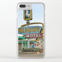 Route 66 - Palomino Motel Clear iPhone Case