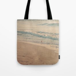 Morning Surf with Sand Pipers Tote Bag