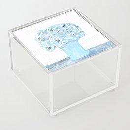 Boho still life flowers in vase Acrylic Box
