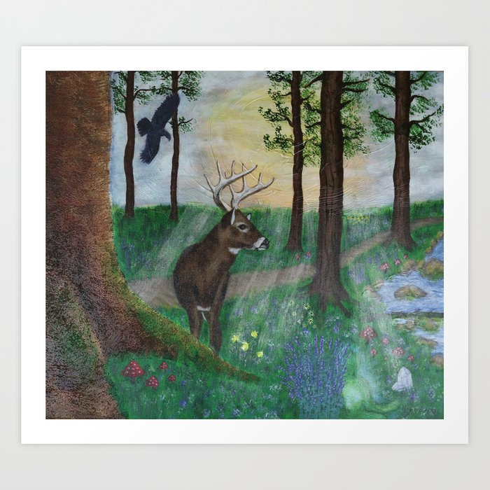 """""""Enchanted Forest"""""""" Art Print"""