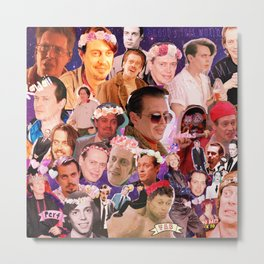 Buscemi Collage Metal Print
