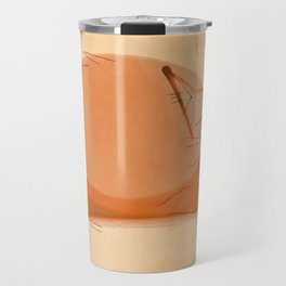 Zen Brush peace cat Travel Mug