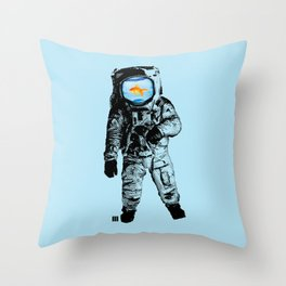 Goldfish Astronaut Throw Pillow
