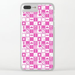 Contraception Pattern (Pink) Clear iPhone Case