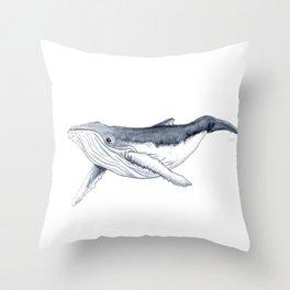 Baby humpback whale (Megaptera novaeangliae) Throw Pillow