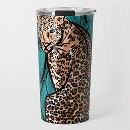 Jungle Cat | Leaves Travel Mug