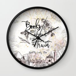 Want - Books Aren't Afraid Wall Clock